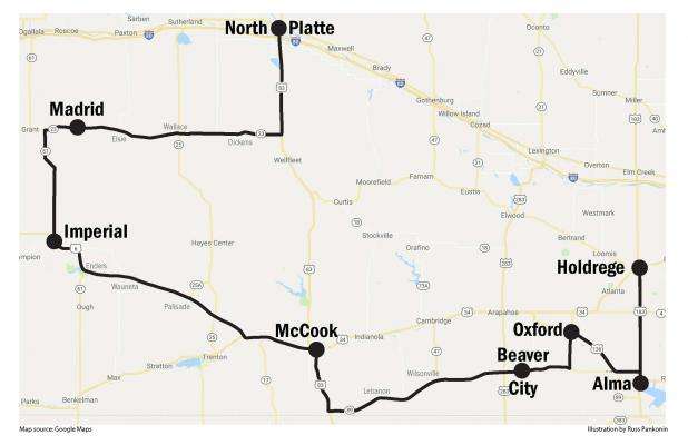 Imperial Nebraska Map.Car Group Plans Stop In Imperial In June Imperial Republican